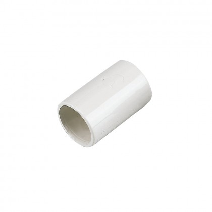 Floplast Straight Couplings White 21.5mm 5 Pack