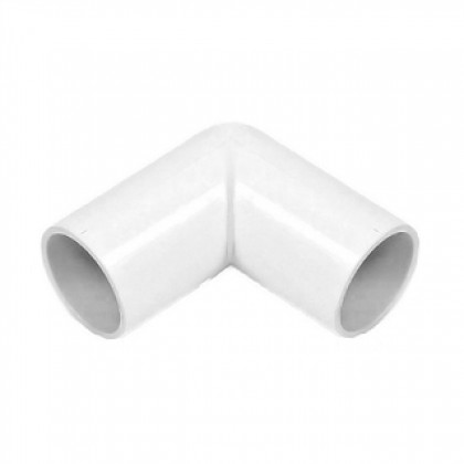 Overflow 21.5mm Solvent Weld 90degree Knuckle Bend White Ns45