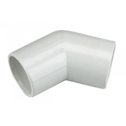 Overflow 45 Elbow 21.5mm Solvent Weld Pvc-U