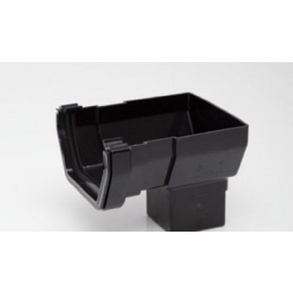 Rs206 Black Short Stop-End Outlet For 112 X 65mm Square