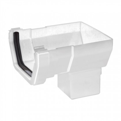 Rs206 White Short Stop-End Outlet For 112 X 65mm Square