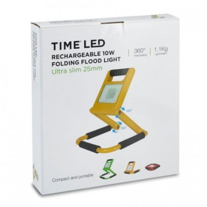TIME LED Rechargeable 10w Folding Flood light