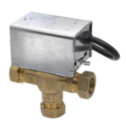 V4073A 22mm Motorised Midposition Diverter Valve